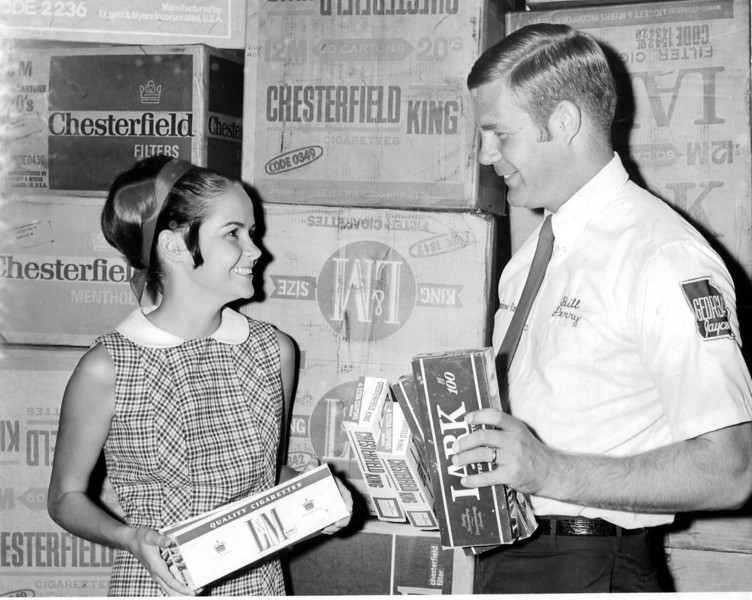 Cigarettes for Servicemen in Vietnam, October 1969