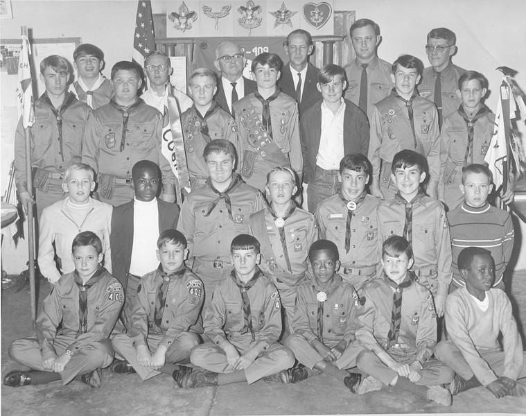 Boy Scouts Troop 409, February 1970