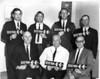 Chamber of Commerce circa 1968. Known are back row: Charlie Jones, Gene Jones, Donald Powell, Bobby Rowan. Front row: _____, Raymond Guess,  W. K. Gaskins.