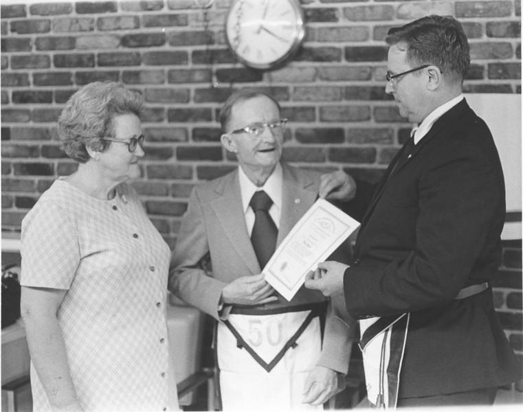 Masonic Lodge - Jannie Mack Hendley 50 years_1