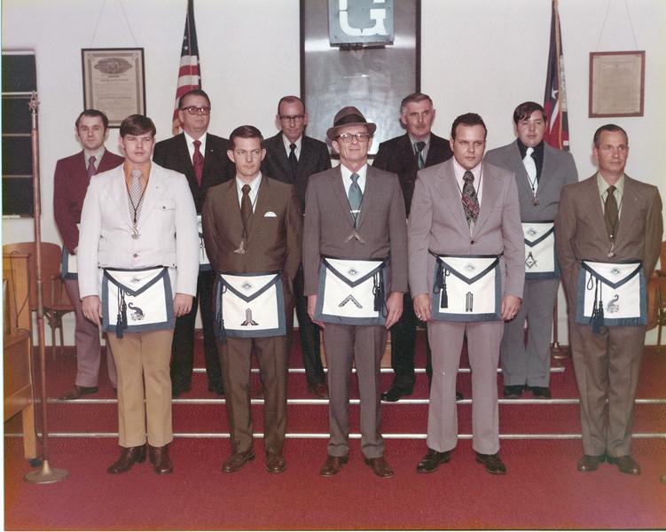 Masonic Lodge officers, 1973