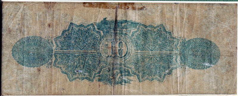 Back of 1867 Berrien County Bond (script)