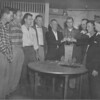 VFW Installation of Post Officers - April 16, 1958<br /> (photo by Wink Rogers)<br /> <br /> Wayne Barrineau, _____, Roy Harrell, Dumps Futch, Alvis Rice, Charles Tomberlin, W.R. Roberts, Wilburn Harrell, Johnny McDowell.<br /> <br /> photo shared by Jerry Cooper