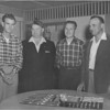 VFW Outgoing Post Officers - April 16, 1958<br /> (photo by Wink Rogers)<br /> Wayne Barrineau, Johnny McDowell, Vinson Luke, W.R. Roberts.<br /> <br /> photo shared by Jerry Cooper