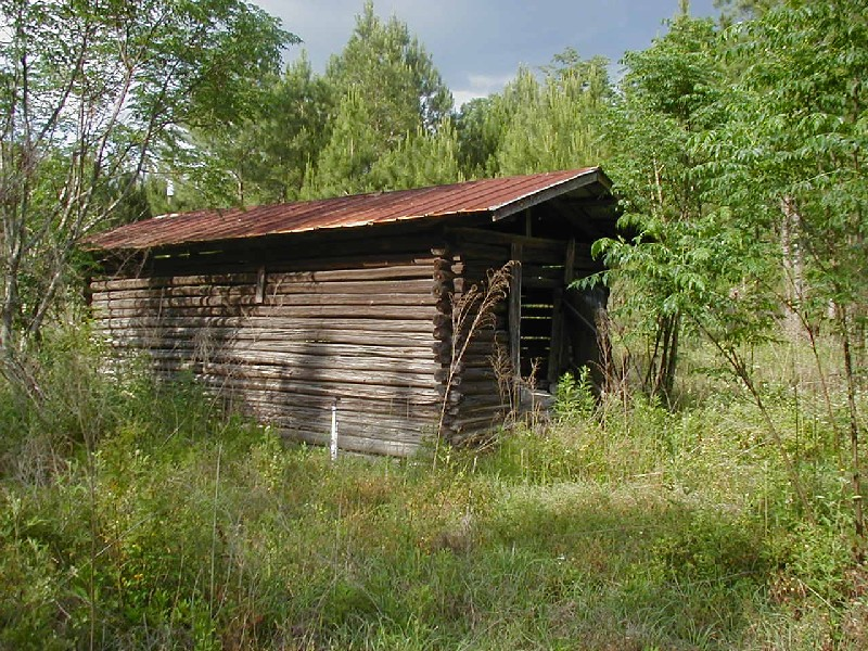Old Barn on former William Gaskins property, son of Fisher Gaskins, more than 100 years old, circa 2004. (Photo by Wenda Gaile Bailey)