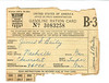 Gasoline Ration Card James S Bailey WWII