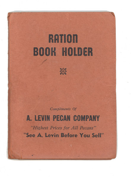 Ration Book Holder_WWII_A Levin Pecan Company