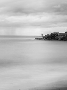 The Lone Fisherman ( Black & White )-IMG_0218