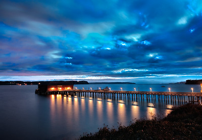 Before Dawn: at the Coupeville Wharf.