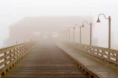 Wharf in Fog: historic Coupeville Wharf.