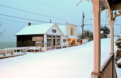 Knead & Feed in Snow: Coupeville, Washington.