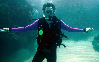 Joe underwater