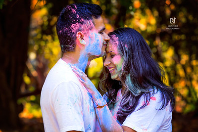 We say our love in colour - pre-wedding photoshoot in Bangalore