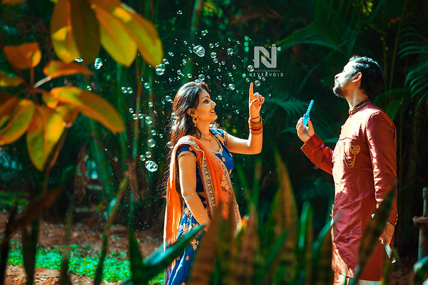 Candid pre-wedding photoshoot for a lovely happy couple in Bangalore
