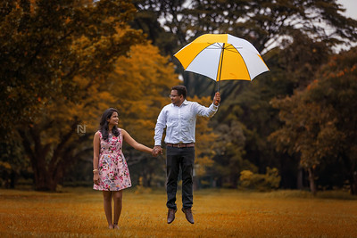 Flying in love - romantic pre-wedding photoshoot