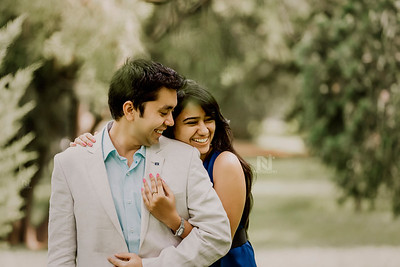 Beautiful couple smiling during a couple photoshoot session.