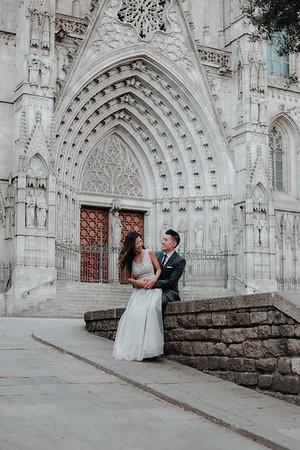 Engagement photos   Gothic, Barcelona
