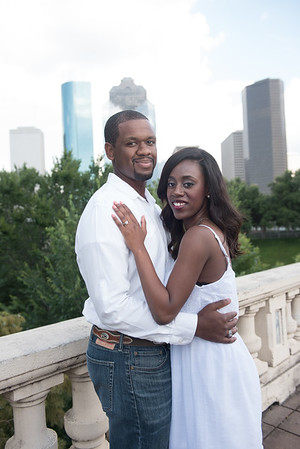 Houston Engagement Session at Buffalo Bayou