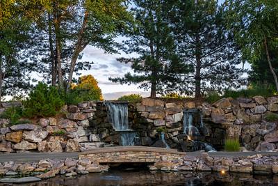 Waterfalls Near the Putting Green