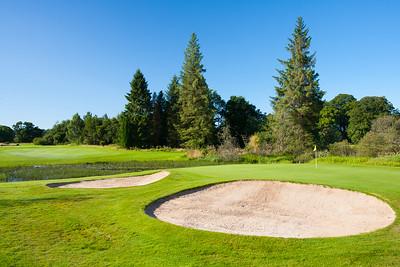 Greenside bunkers Buchanan Castle Golf Club