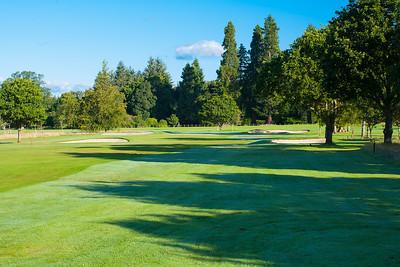 Fairway shadows at Buchanan Castle Golf Club