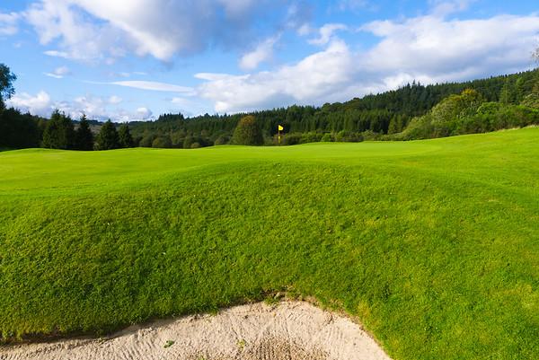 Greenside bunker view, Hilton Park Golf Club