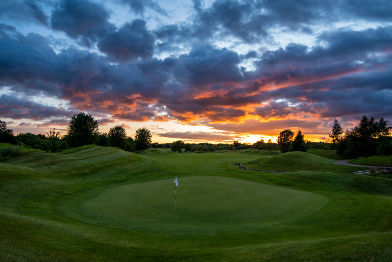 Sunset on the 18th