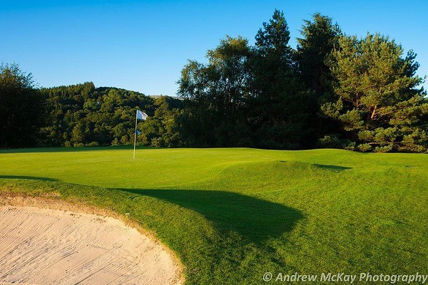 Bunker and green, Milngavie Golf Club