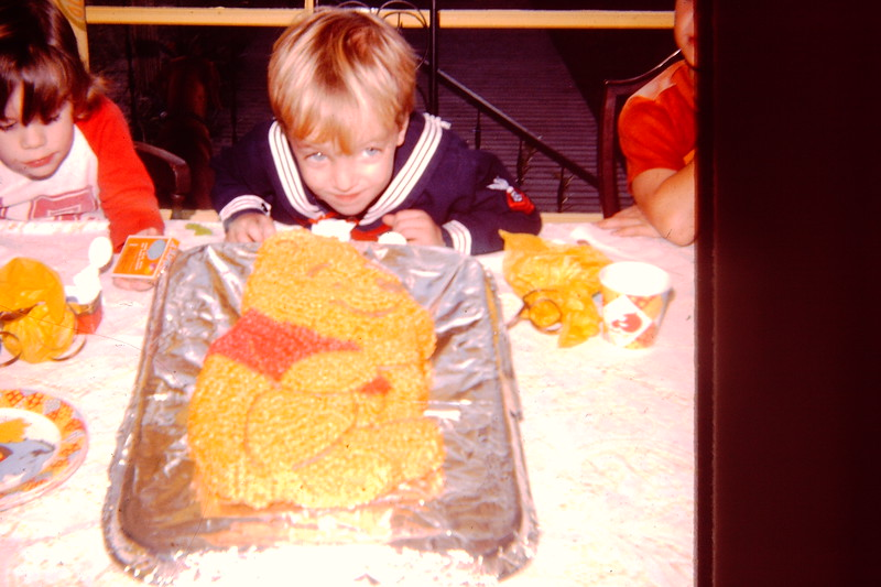 Jon with his Winnie the Pooh Cake