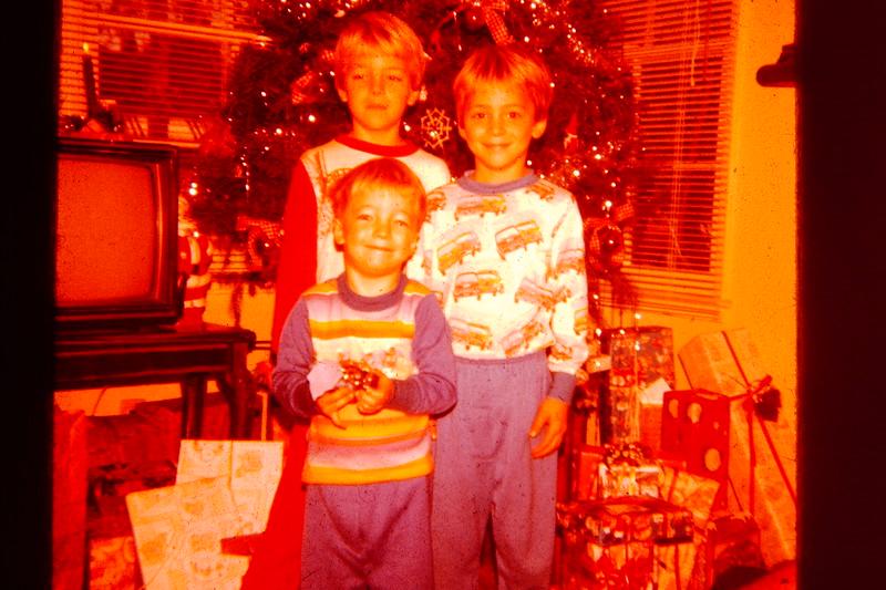 My boys at Christmas