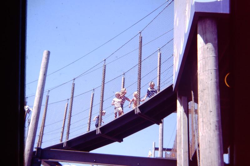 Boys on a bridge
