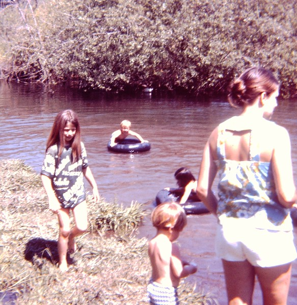 Mom and Joel at the River