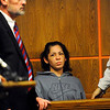 Elsa Oliver, 28, of Fitchburg is arraigned in Fitchburg District Court on Tuesday as her defense Attorney Gavin Reardon stands by at left. Her 5-year-old child Jeremiah Oliver has been missing since mid September.<br /> SENTINEL & ENTERPRISE / BRETT CRAWFORD