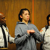 Elsa Oliver, 28, of Fitchburg is arraigned in Fitchburg District Court on Tuesday. Her 5-year-old child Jeremiah Oliver has been missing since mid September.<br /> SENTINEL & ENTERPRISE / BRETT CRAWFORD