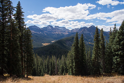 Uncompahgre Wilderness from Courthouse Mountain Trail