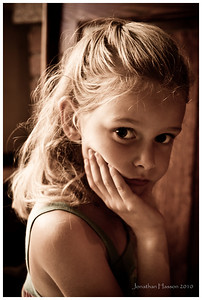 One of my favorites...a model in the making!  That sulky, pouty thing is turned on!