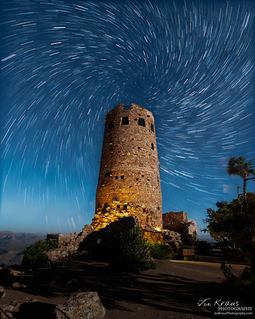 Spiral Star Trails