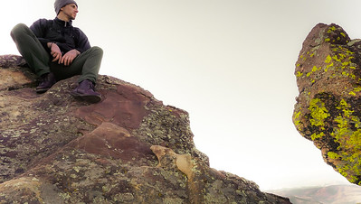 Climbing Boulders in Boulder.