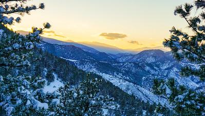 Frozen Rocky Sunset.
