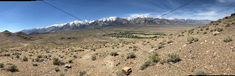 Snow-capped Sierra Nevada as seen from Alabama Hills, Lone Pine, CA