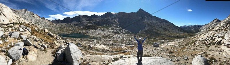 Nine Lakes Basin from Kaweah Gap