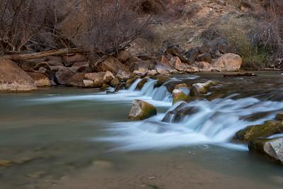 The Virgin River - Zion National Park, Utah.