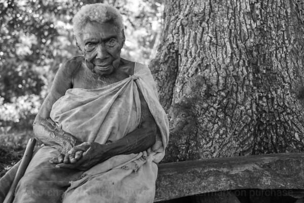 Vanuatu, Tanna, Lolumpaeu, Elderly Lady
