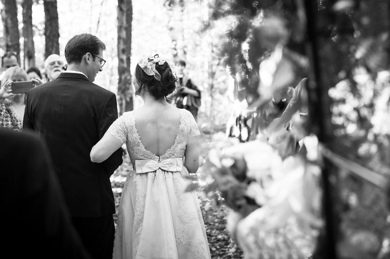 Berkshires Massachusetts Autumn Wedding Ceremony