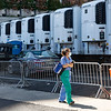 NEW YORK - March 31, 2020: for NEWS. Refrigerated tractor trailers converted into makeshift morgues outside the Medical Examiners' Office at Bellevue Hospital amid the COVID-19 Coronavirus pandemic. nypostinhouse (Photo by: Taidgh Barron/NY Post)
