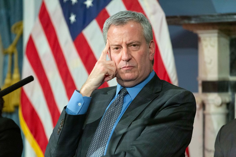 NEW YORK - March 12, 2020: for NEWS.  Mayor Bill de Blasio hosts a press conference amid the COVID-19 Coronavirus pandemic. (Photo by: Taidgh Barron/NY Post)
