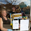 "NEW YORK - March 17, 2020: for NEWS. Carole Husiak and her son Eilas Husiak of Ibiza Kids at 340 1st Avenue doing a window shopping arrangement where customers pick out items from the window and exchange goods through the door amid the COVID-19 Coronavirus pandemic. <br /> <br /> Carole Husiak said the store has been doing the window shopping system for three days but plans to close for two weeks to whenever it's safe at 8 p.m. Business has mainly been selling toys to families, which doesn't make much money, in the neighborhood to keep their kids busy now that schools are closed. <br /> <br /> ""We've been helping a lot of families, it takes a village."" <br /> (Photo by: Taidgh Barron/NY Post)"