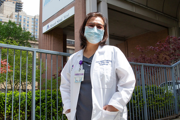 NEW YORK - May 13, 2020: for NEWS. Nurse Manager Janet Mary Cuaycong, who was Mount Sinai West Nurse Kious Kelly's Manager amid the COVID-19 coronavirus pandemic.  nypostinhouse (Photo by: Taidgh Barron/NY Post)