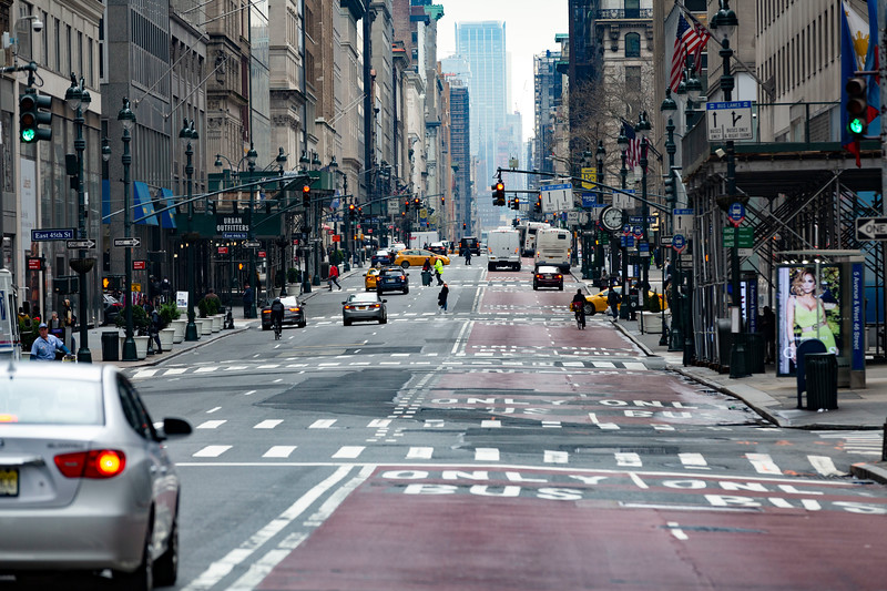 NEW YORK - March 19, 2020: for NEWS. 5th Avenue in Midtown amid the COVID-19 Coronavirus Pandemic. (Photo by: Taidgh Barron/NY Post)