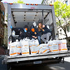 NEW YORK - May 12, 2020: for NEWS. Essential worker grocery delivery workers for Dutch Express serving Upper West Side residents at a Broadway location of Citerella grocery store amid the COVID-19 Coronavirus pandemic. nypostinhouse (Photo by: Taidgh Barron/NY Post)